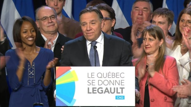 CAQ Leader François Legault surged in the polls in the second half of the election campaign.