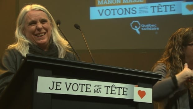 Manon Massé became Québec Solidaire's third MNA in the 2014 Quebec election.