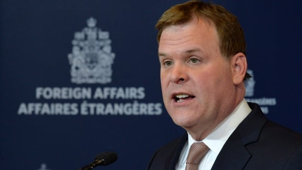 Foreign Affairs Minister John Baird said in a statement Thursday that Canada has not been asked by the U.S. to help in its military strikes on ISIS fighters in Iraq.