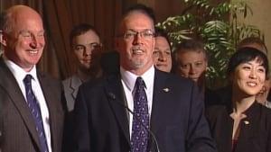 Mike Farnworth hands John Horgan B.C. NDP leadership