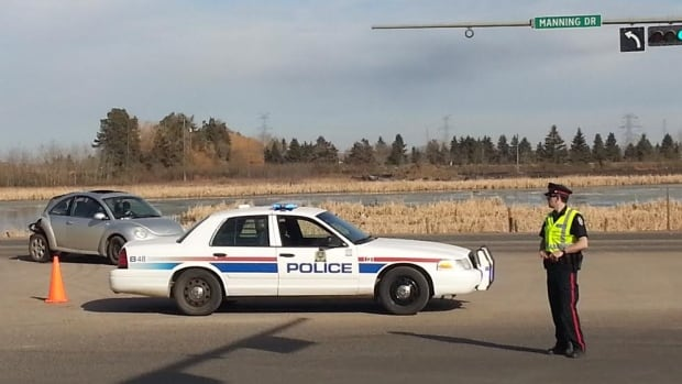 A seven-year-old girl was rushed to hospital with critical injuries after a crash at Manning Drive and 167 Avenue Tuesday afternoon.