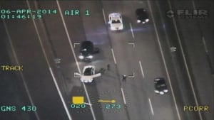 RCMP Air One April 6 arrest - Highway 91