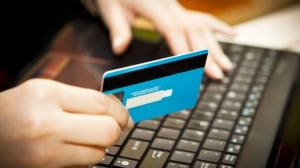 Online shopping credit card computer 129618041