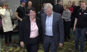Cathy Bennett and Dwight Ball