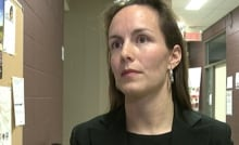 Céline Nadreau president parent teacher Grand-Boisé school traffic safety