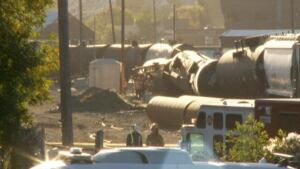 Alyth Rail Yard train derailment Calgary