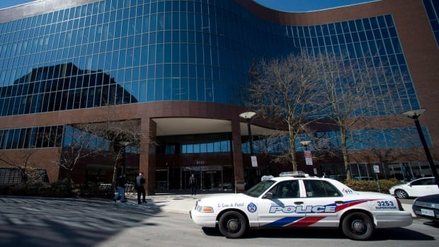 Four people were injured in a stabbing at a Toronto office building on Wednesday, April 8.