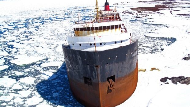 The MV Miner ran aground off Scatarie Island, N.S., in 2011.