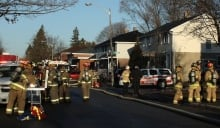 Fire 725 Bernard Street Overbrook rescue firefighters April 11 2014