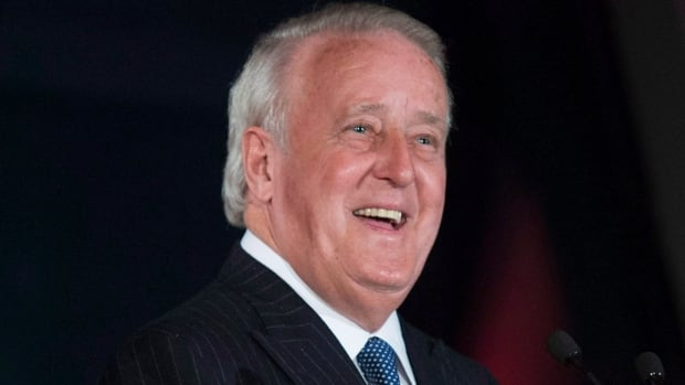 FILE PHOTO: Former Prime Minister Brian Mulroney spoke to CBC Daybreak host Mike Finnerty Tuesday morning.