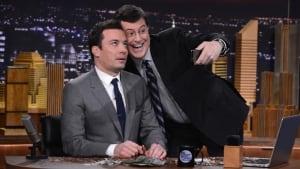 Tonight Show Stephen Colbert Jimmy Fallon