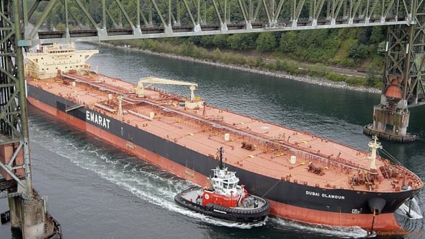 Tanker traffic in Burrard Inlet will increase with the expansion of Kinder Morgan's Trans Mountain pipeline. The City of Vancouver, which filed to become an intervener in the National Energy Board's review of the proposal, says the company hasn't responded to 40 per cent of the questions it submitted.