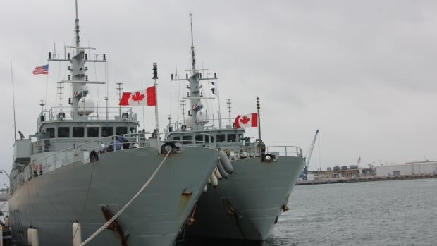 HMCS Kingston and Glace Bay docked in Florida before embarking home to Halifax.
