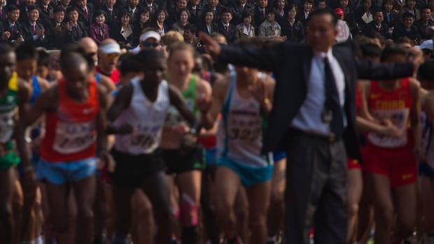 North Korean has hosted an internationally recognized marathon for the past 27 years. This was the first time, however, that the event was open to foreign amateurs.