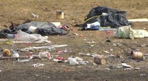 Garbage near Elizabeth Avenue