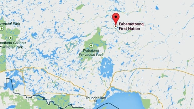 Eabametoong is policed by the Nishnawbe-Aski Police Service.