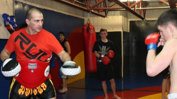 Professional fighter Darwin Douglas wants to pass on the lessons he's learned from MMA to the next generation of aboriginal youth, through his Four Directions gym.