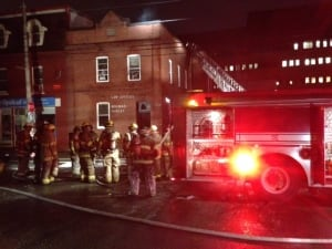 Fire at Noonan Law office on Duckworth Street April 2014
