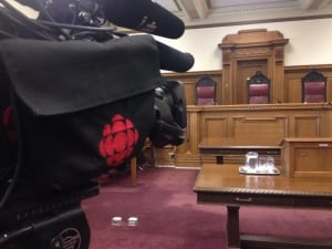 Cameras in courtroom