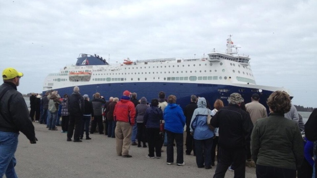 People welcomed the arrival of the new ferry in Yarmouth mid-April.
