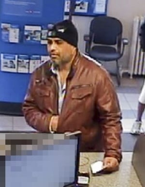 Image of so-called 'Pleather Bandit' suspect