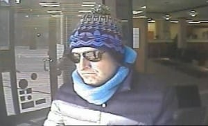 Image of bank robbery suspect, 'Box Cutter Bandit'