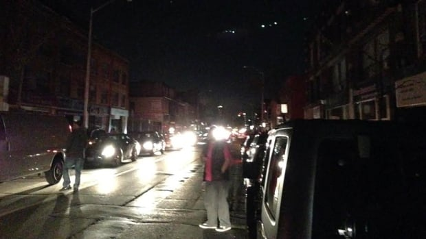 Residents near Bloor West were in darkness Tuesday night as a large blackout gripped the west end of the city.