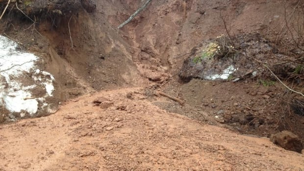 Both lanes are now open on a stretch of road between North East Margaree and Margaree Forks.