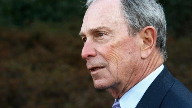 Former New York mayor Michael Bloomberg talks to reporters after meeting with U.S. President Barack Obama at the White House on Feb. 27, 2014. Bloomberg has launched a new advocacy group that will spend $50 million this year to try to reduce gun violence.