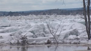 St. John River ice jam