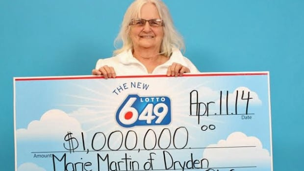 Marie Martin, a 71-year-old retiree, bought her winning ticket at Teraz Express in Thunder Bay.