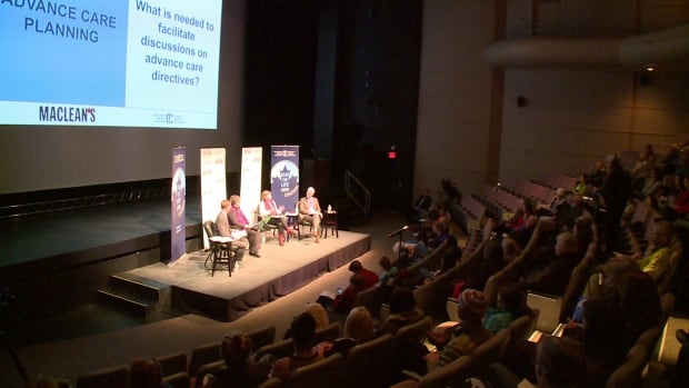 The Canadian Medical Association held a town hall discussion in Whitehorse last night as part of its national town hall series on end-of-life care. The association says 70 per cent of Canadians haven't talked to their relatives about their wishes at the end of life.