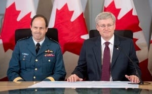 Prime Minister Stephen Harper and CDS Thomas Lawson