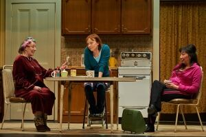 Patricia Hunter, Martha Burns and Tracey Nepinak in Good People.