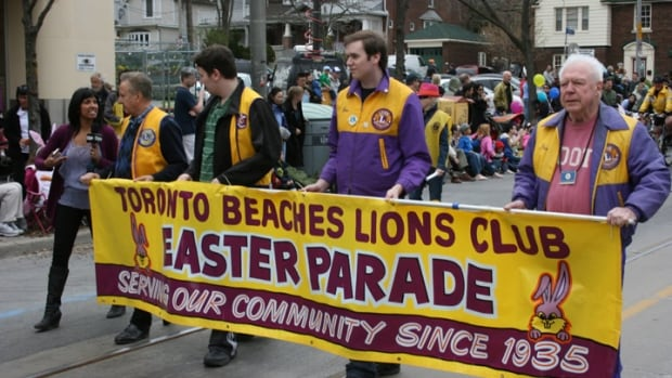 A scene from the Toronto Beaches Lions Club's annual Easter Parade.