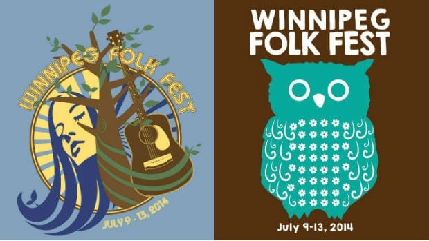 These designs will grace the 2014 Winnipeg Folk Fest T-shirts.