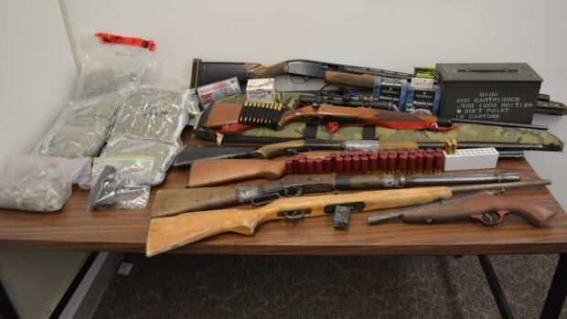 Fort Resolution RCMP seized 1.8 kilograms of marijuana, 95 grams of hash, 28 grams of psilocybin, six rifles, ammunition and a modified .22 calibre rifle from a home in the community on Wednesday.