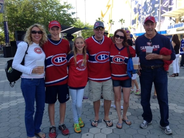 Habs fans in Tampa