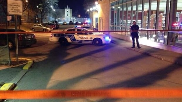 The man was discovered with a bullet wound to his torso in the parking lot of the Henri Bourassa Arena in Montreal North.