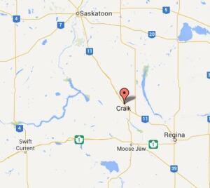 Craik, Sask., map