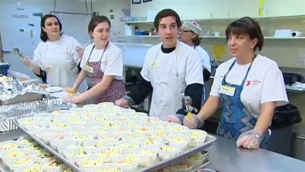 Siloam Mission served over 500 people Easter dinner last year. A group that represents real estate agents in Manitoba is sponsoring the event again this year.