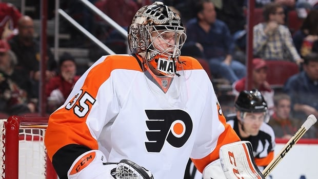 Steve Mason (35) is 33-18-7 with a 2.50 goals-against average and four shutouts in 61 games for the Flyers this season.