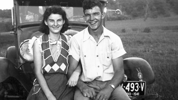 In this September 1941 photo, Kenneth and Helen Felumlee pose for a photo nearly three years before their marriage in February 1944.