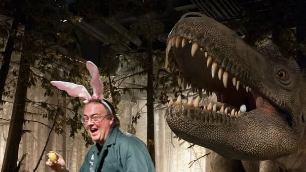 The Royal Tyrrell Museum in Drumheller is hosting its annual Easter egg hunt and has hidden dinosaur eggs throughout the galleries.