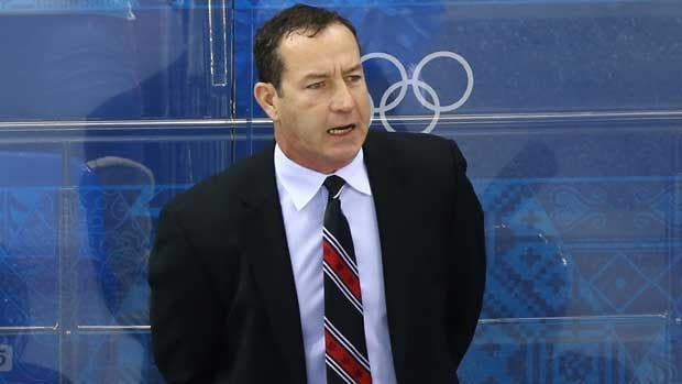 Kevin Dineen, seen at the Olympics, is coaching the under-18 team at the tournament in Finland.