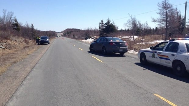RCMP were on the scene at a fatal vehicle collision on Witless Bay Line on Monday.