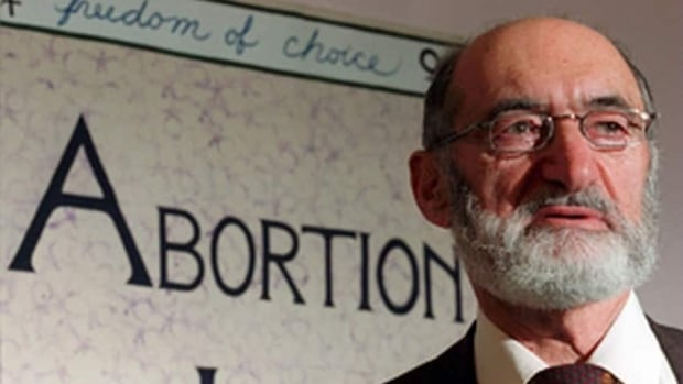 Henry Morgentaler, seen here in a file photo, was a physician who fought to expand abortion rights in Canada. Prince Edward Island is the sole province where abortions are not performed, while the New Brunswick government is the subject a decade-long court battle spearheaded by Morgentaler over funding.