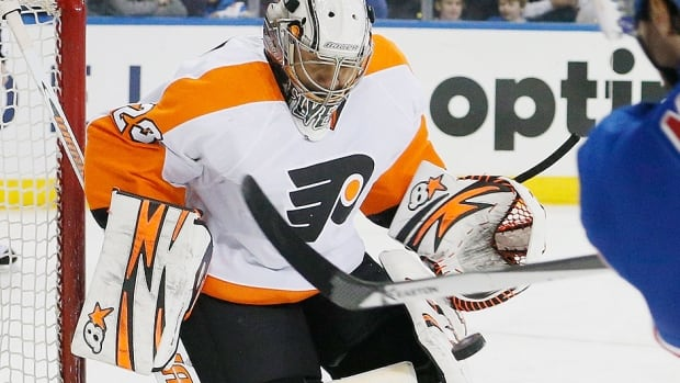 Flyers goalie Ray Emery made 31 saves in Game 2 against the Rangers on Sunday to win his first Stanley Cup playoff game anywhere in exactly three years. He will make his third consecutive start Tuesday in place of the injured Steve Mason.