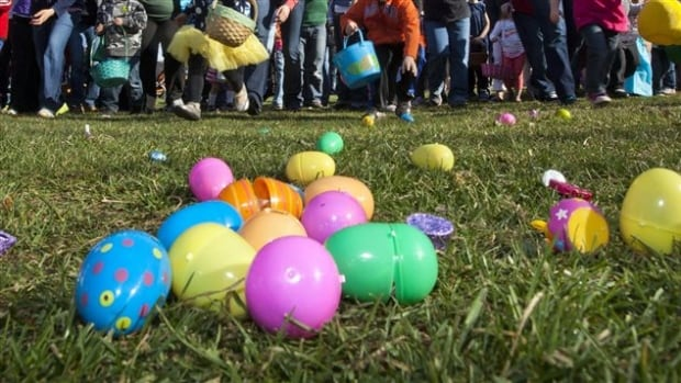 An Easter egg hunt in Laval, Que., involving thousands of people turned into a mad scramble, with parents snatching eggs from children's baskets to give to their own kids.