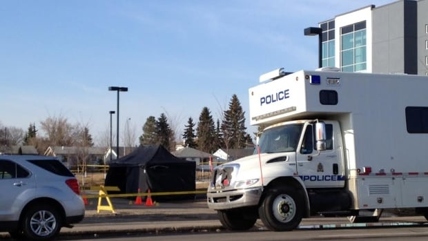 Investigators are on the scene of a suspicious death at 160 Street and Stony Plain Road.